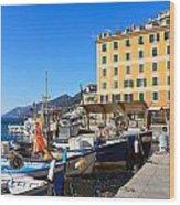 Liguria - Harbor In Camogli Wood Print