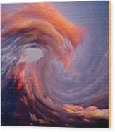 Like A Wave In The Sky Wood Print