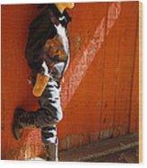 Lil Cowboy In Sun Wood Print
