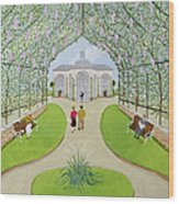 Lilac Arbour Oil On Board Wood Print