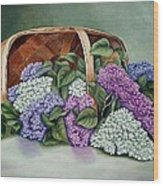 Lilac Basket Wood Print