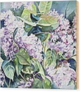 Lilac Delight Wood Print