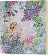 Lilac Enchanting Flower Fairy Wood Print