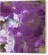Lilac Flowers Wood Print
