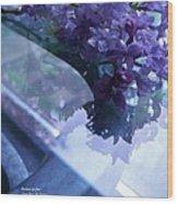 Lilac Glass Wood Print