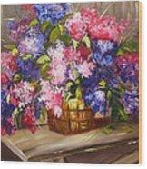 Rustic Lilac Wood Print
