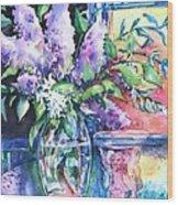Lilac Light Wood Print