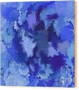 Lilac Of The Valley Blue White Wood Print