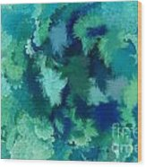 Lilac Of The Valley Teal Green Wood Print