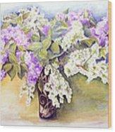 Lilacs Bouquet Wood Print