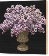 Lilacs In A Green Vase - Flowers - Spring Bouquet Wood Print