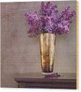 Lilacs In Vase 1 Wood Print