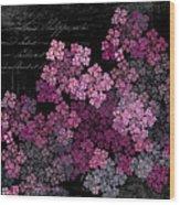 Lilacs Wood Print by Sylvia Thornton