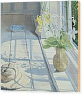 Lilies And A Straw Hat Wood Print