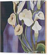 Lilies Wood Print by Sydne Archambault