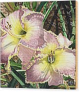 Lillies Clothed In Glory Wood Print