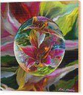 Lillium Bulbiferum Wood Print