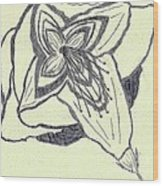Lilly Artistic Doodling Drawing Wood Print