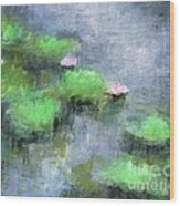 Water Lilly's  Wood Print