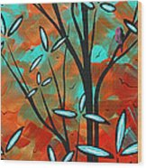 Lilly Pulitzer Inspired Abstract Art Colorful Original Painting Spring Blossoms By Madart Wood Print