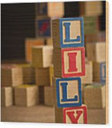 Lily - Alphabet Blocks Wood Print