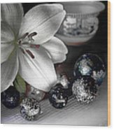 Lily And Marbles Wood Print
