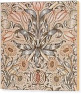 Lily And Pomegranate Wallpaper Design Wood Print by William Morris