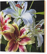 Lily Bouquet Wood Print