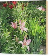Lily Garden Wood Print