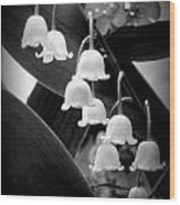 Lily Of The Valley Black And White Wood Print