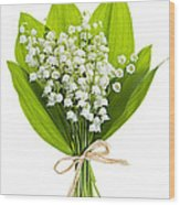 Lily-of-the-valley Bouquet Wood Print