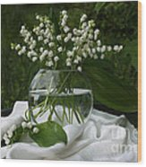 Lily-of-the-valley Bouquet Wood Print by Luv Photography