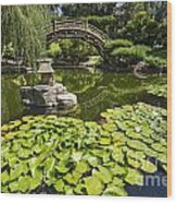 Lily Pad Garden - Japanese Garden At The Huntington Library. Wood Print