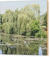 Lily Pond In Monets Garden Wood Print