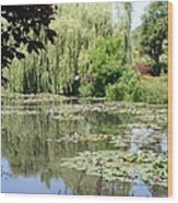 Lily Pond - Monets Garden - France Wood Print