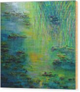 Lily Pond Tribute To Monet Wood Print