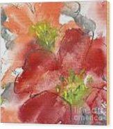Lily Wisps II Wood Print