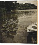 Lilypads In The Lake Wood Print by Amy Cicconi