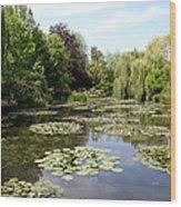 Lilypond Monets Garden Wood Print