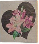 Lilys Of Love Wood Print