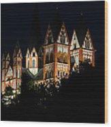 Limburg Cathedral At Night Wood Print