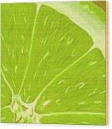 Lime Wood Print by Anastasiya Malakhova
