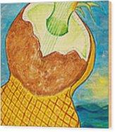 Lime Coconut Pineapple Guitar Wood Print