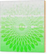 Lime Green Spirograph Wood Print
