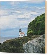 Lime Kiln Point Lighthouse Wood Print