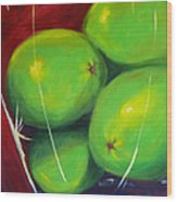 Limes In A Vase Wood Print
