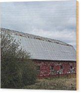 Limestone County Red Barn Wood Print