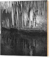 Limestone Icicles Wood Print