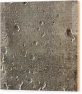 Limestone Pockmarked By Bullets Wood Print