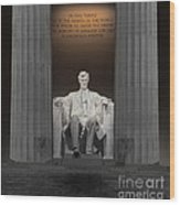 Lincoln And Columns Wood Print
